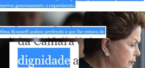 Editorial é duro com Dilma Rousseff