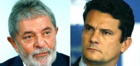 Ex-presidente Lula e juiz Sérgio Moro