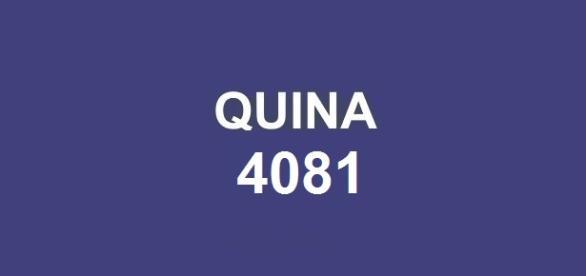 Resultado da quina 4081 será anunciado pela CAIXA nessa quarta-feira, dia 11.