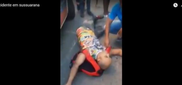 Uma das vítimas do acidente. Foto: Reprodução Youtube