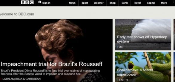 Capa da BBC de Londres de hoje.