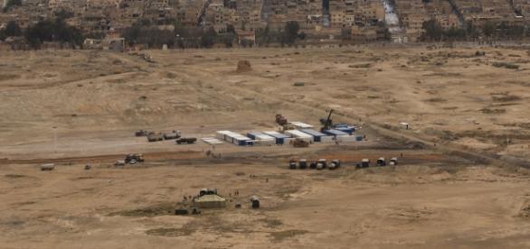 Foto de la base rusa en Palmira.