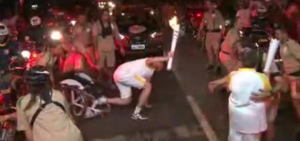Atleta paraolímpico caiu em revezamento