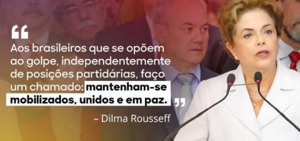 Dilma convoca militantes para saírem às ruas