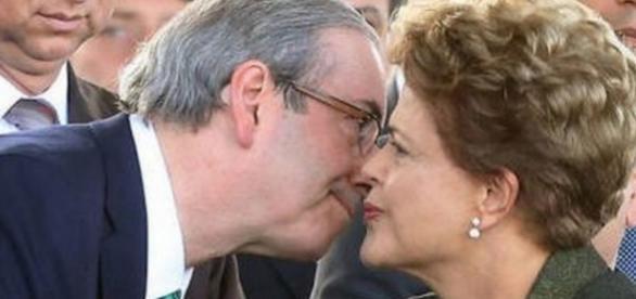 Eduardo Cunha e Dilma - Imagem/Google