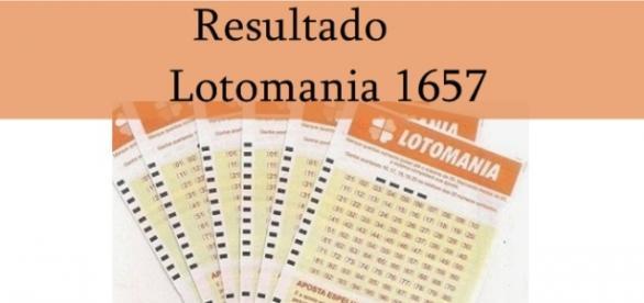Resultado do jogo Lotomania 1657