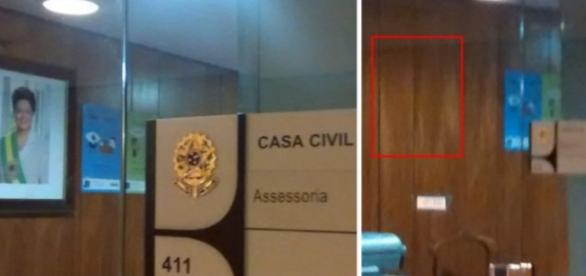 "Retrato de Dilma é jogado ""fora"""