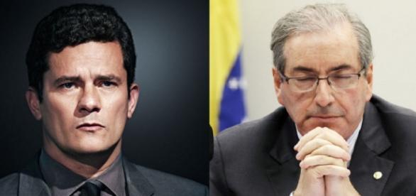 Sérgio Moro e Eduardo Cunha - Foto/Reprodução