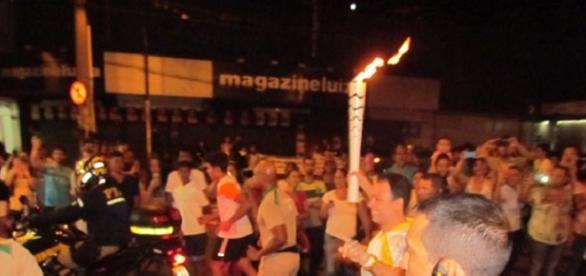 Tocha em Itabira-MG atraiu multidões