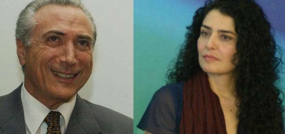 Michel Temer e Letícia Sabatella - Foto/Montagem