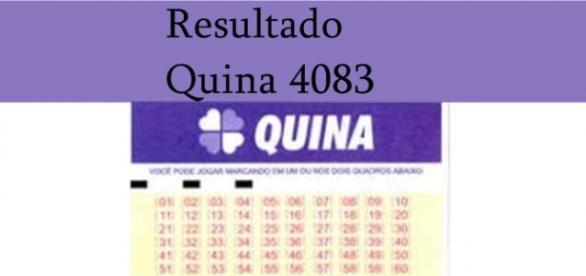Resultado do jogo da Quina 4083