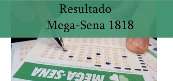 Resultado do jogo Mega-Sena 1818