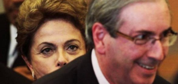 Dilma Rousseff e Eduardo Cunha em evento
