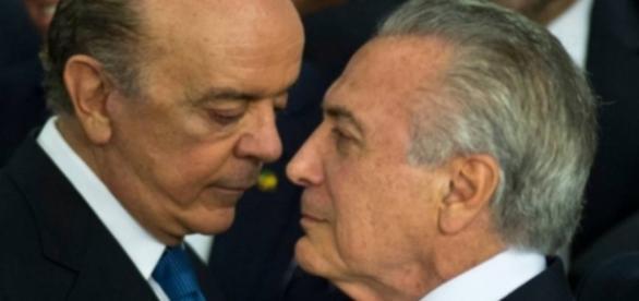 José Serra e Michel Temer - Imagem/Google