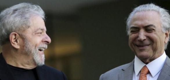 Lula e Michel Temer - Imagem/Google