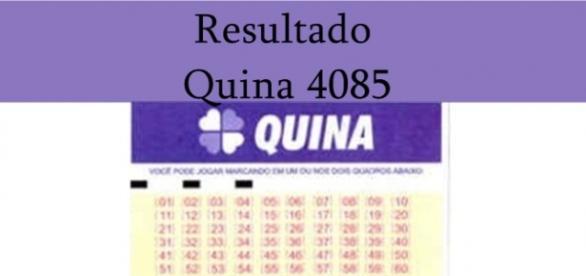Resultado do jogo da Quina 4085
