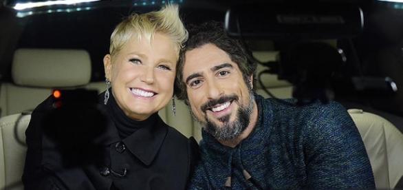 Xuxa e Marcos Mion. Foto: Tv Record