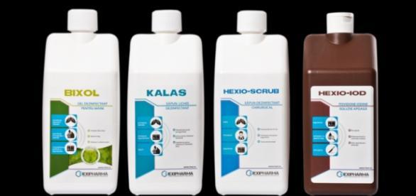 Dezinfectanţi produşi de către Hexi Pharma