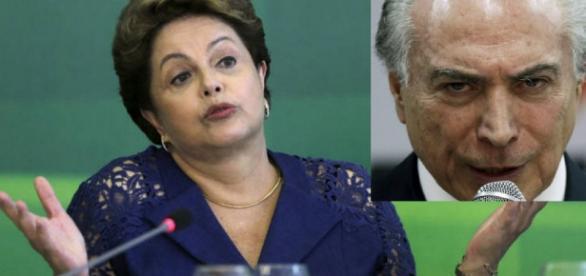 Dilma Rousseff e Michel Temer - Foto/Montagem