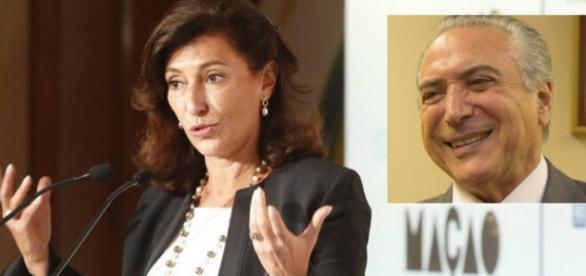 Nova presidente do BNDES - Foto/Montagem