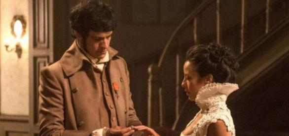 Rubião pede a mão de Rosa em casamento