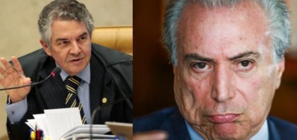 Mauro Aurélio e Michel Temer - Foto/Montagem