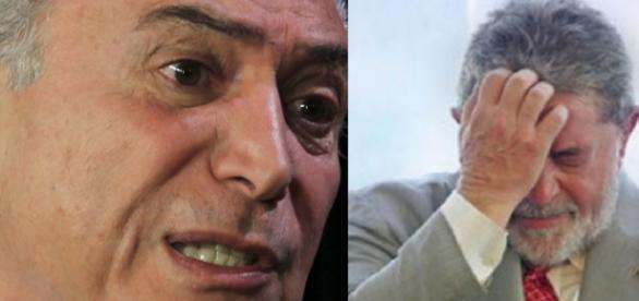 Michel Temer e Lula - Foto/Montagem