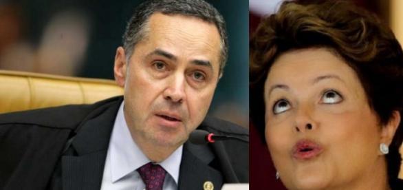 Ministro e Dilma Rousseff - Foto/Montagem