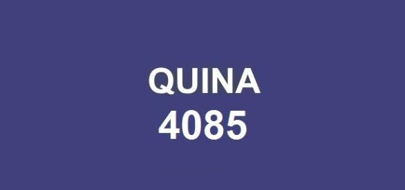 Primeiro sorteio da semana; Resultado da quina 4085 divulgado no Espaço Caixa, em São Paulo.