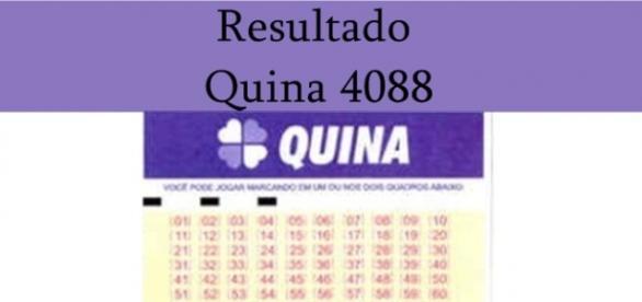 Quina 4088: resultado do jogo 19-05