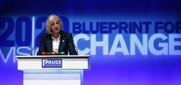 Theresa May, en la conferencia anual de la Federación policial