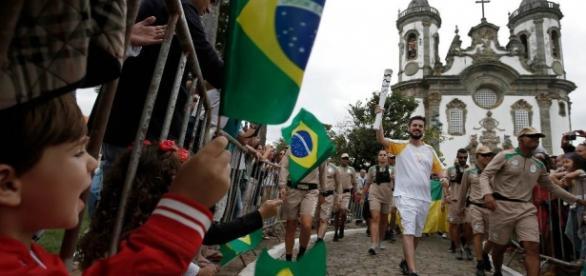 Tocha Olímpica passou por Tiradentes.