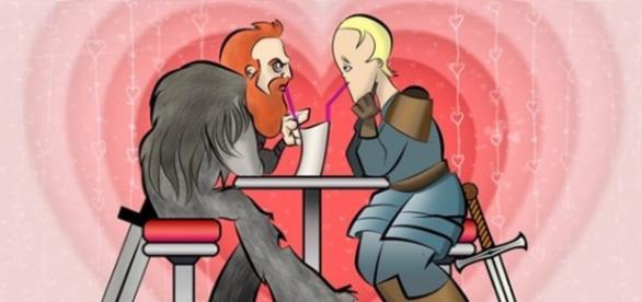 #Briemund é o novo casal favorito de 'Game of Thrones' (Foto: @WikiRascals/Reprodução)