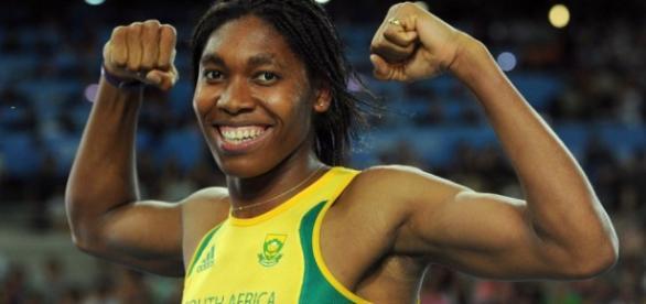 Caster Semenya ganhou prata nos 800 metros