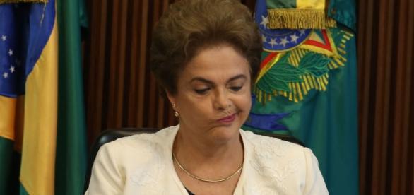 Dilma Rousseff, presidente afastada por 180 dias.