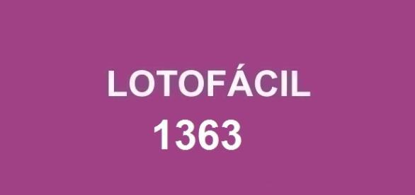 Divulgado o resultado da lotofácil 1363! Sorteio do prêmio de R$ 1,7 milhão nessa quarta-feira.
