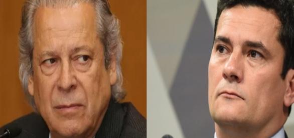 José Dirceu e Sérgio Moro - Foto/Montagem
