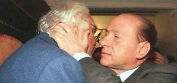 Marco Pannella e Silvio Berlusconi
