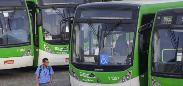 Paralização de ônibus em São Paulo