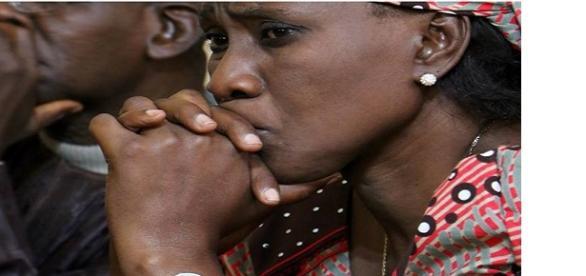 Rostro de una mujer nigeriana cristiana
