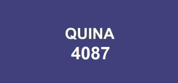 Sorteio do prêmio principal de cinco acertos. Resultado da quina 4087 será divulgado nessa quarta-feira, dia 18.