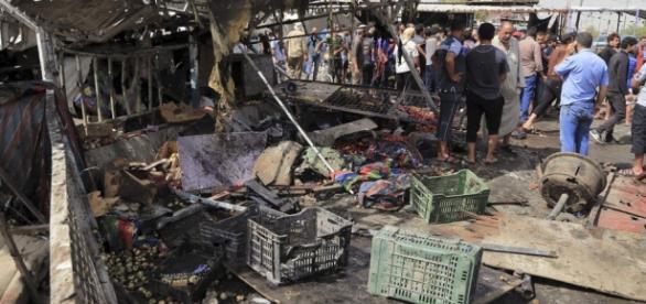 Uno de los atentados del Estado Islámico en un mercado de Bagdad