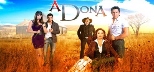 A Dona, novela do SBT. Foto: Reprodução.