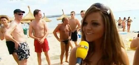 Jana bei einer RTL-Reportage 2009 auf Mallorca / Fotos: privat, RTLII