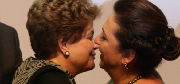 Kátia Abreu e Dilma Rousseff - Imagem/Google