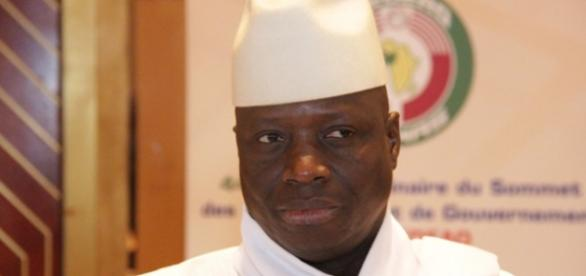 President Yahya Jammeh of The Gambia at ECOWAS Summit / Sulayman Gassama, statehouse.gov.gm