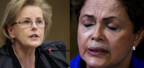 Rosa Weber e Dilma Rousseff - Foto/Montagem