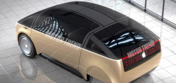 Screenshot of rendering of the Apple Car. 'Motor Trend'/YouTube.
