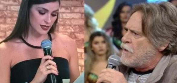 Casal responde a cuspes de Zé de Abreu