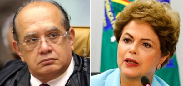 Gilmar Mendes e Dilma Rousseff - Foto/Montagem